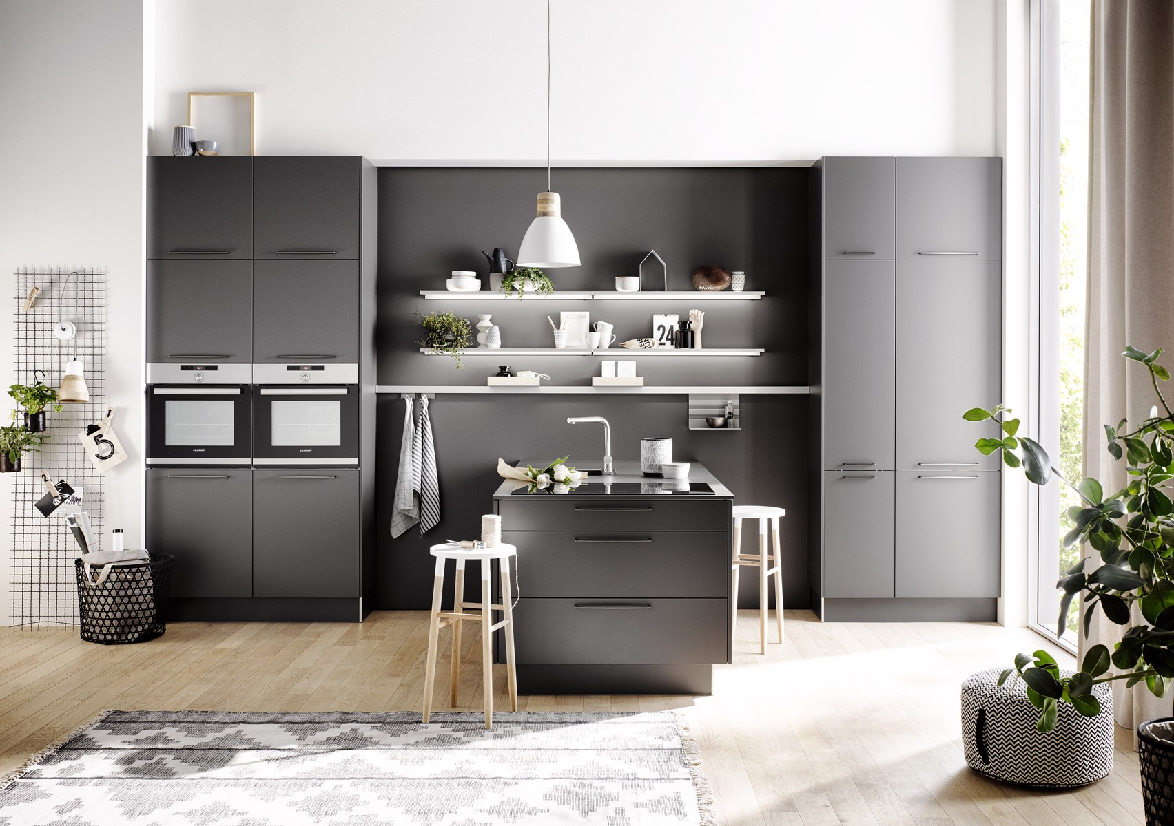 h cker k chen pr sentiert neue fronten in betonoptik k chenhaus thiemann. Black Bedroom Furniture Sets. Home Design Ideas