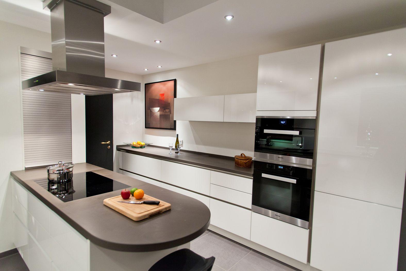 Moderne Weisse Hochglanz Küche
