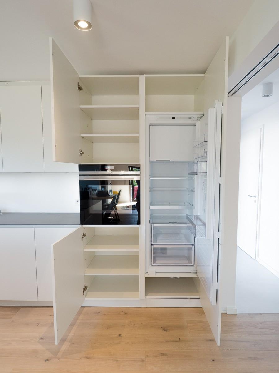 wei e k che mit hochwertiger arbeitsfl che kochinsel und bora basic kochfeld k chenhaus. Black Bedroom Furniture Sets. Home Design Ideas