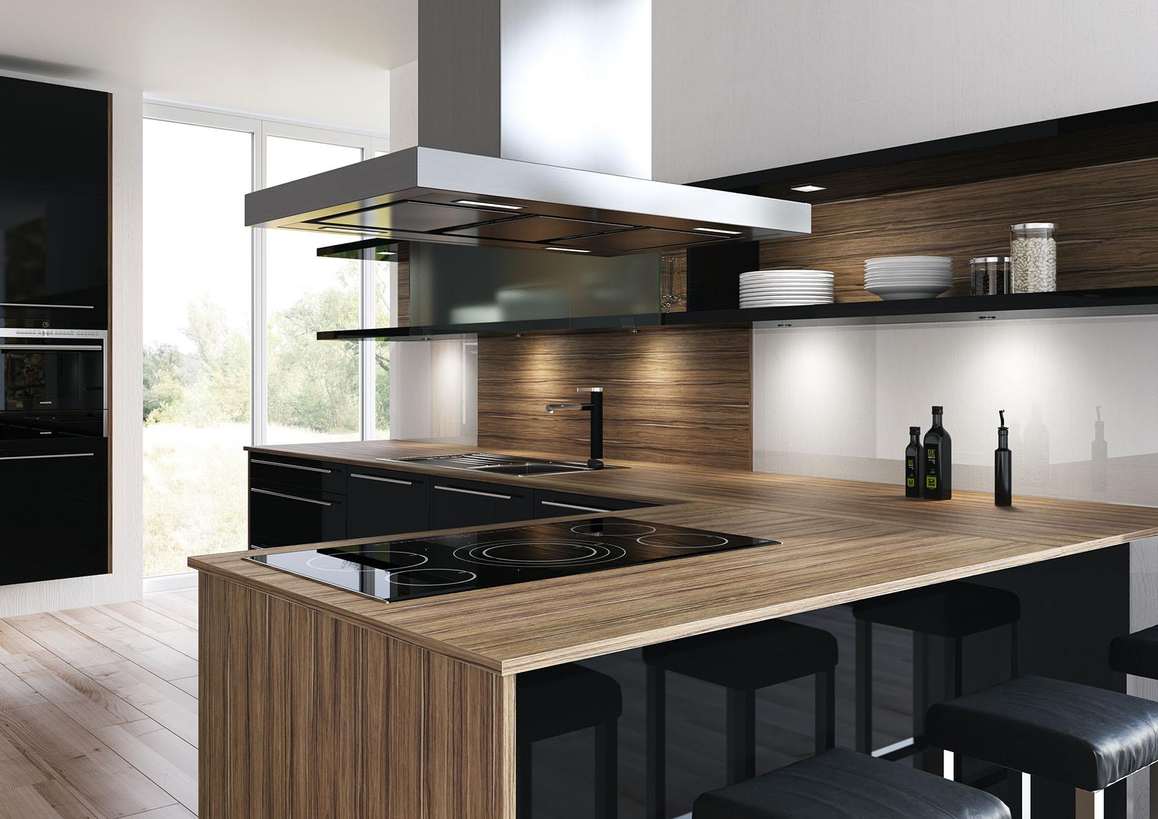 Laminat Arbeitsplatten - Schichtstoffplatten HPL / Küchenhaus ✓