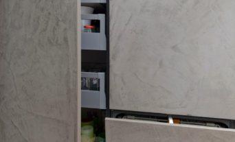 beton front küche leicht