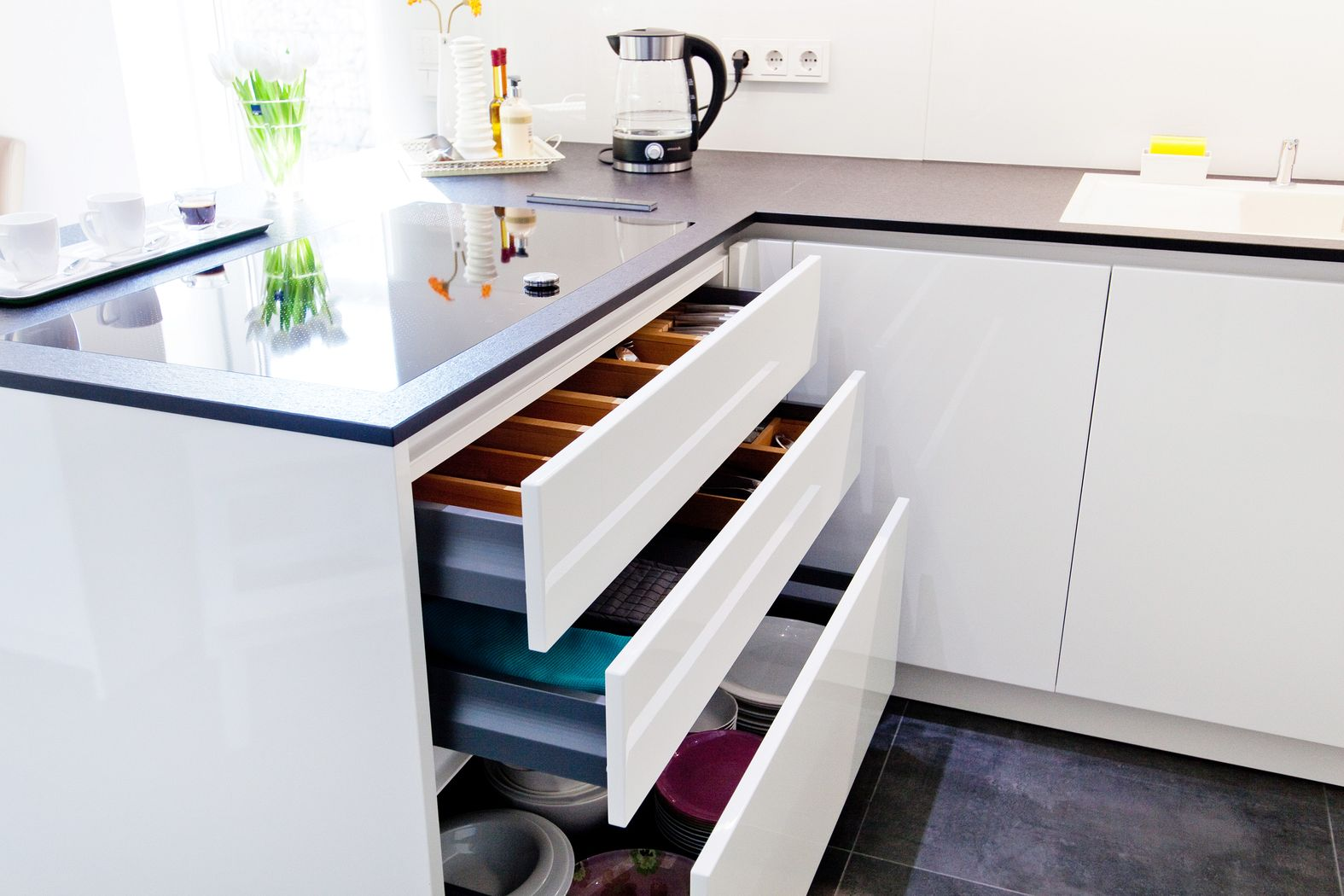 Moderne Küche Weiß Kochinsel In Der Küche Modern Design Ideen