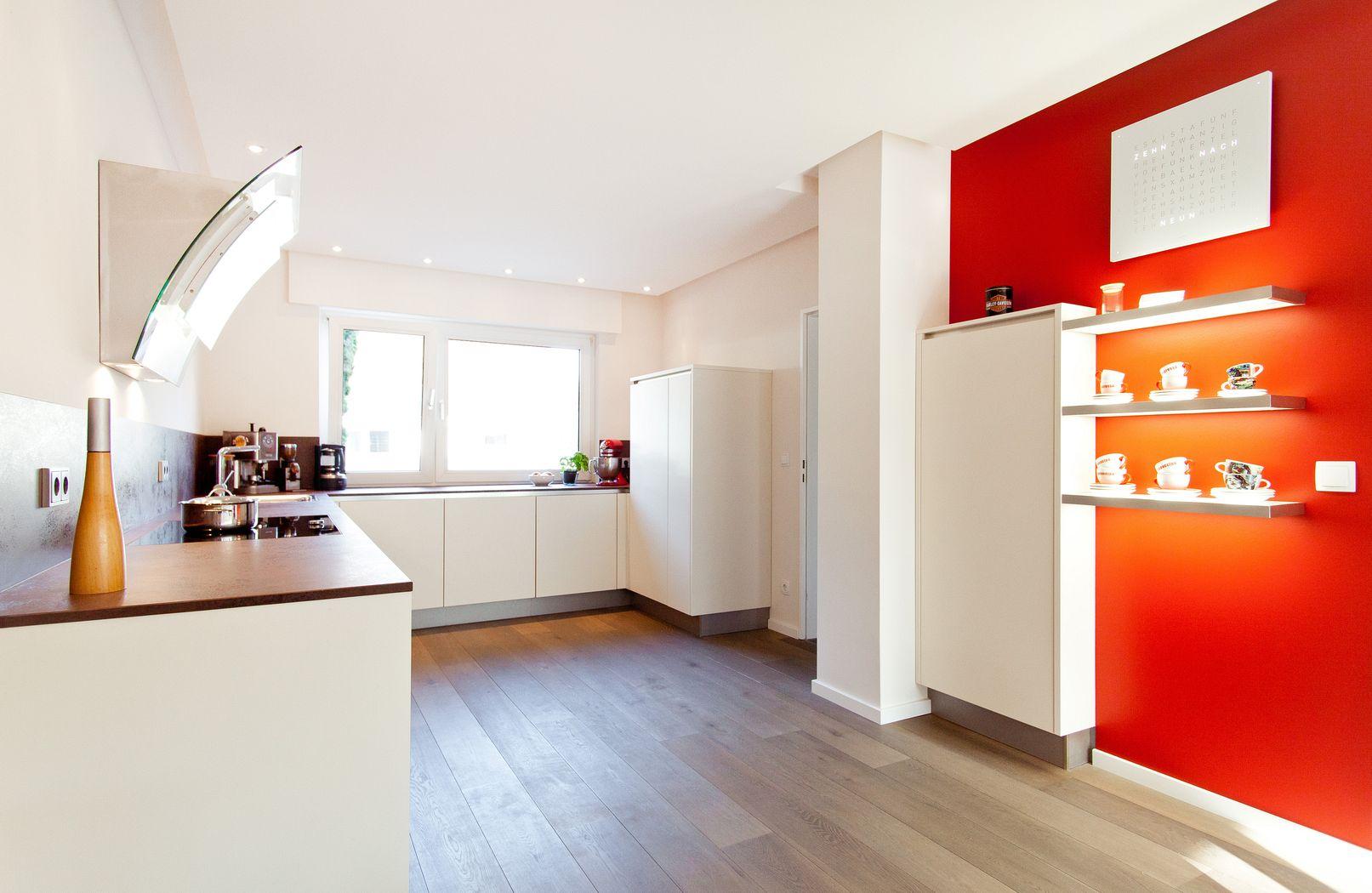 Küchen modern u-form  U-Form moderne grifflose Küche mit Keramik Arbeitsplatte ...